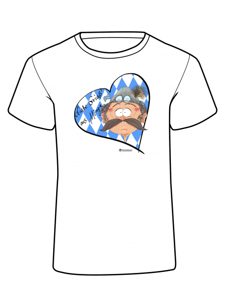 Design T-Shirt – Bayer Comic Oktoberfest Grias' aus Minga